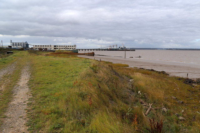 View back to the docks at New Holland