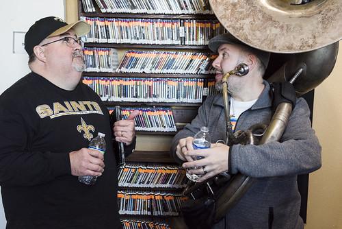 John Papa Gros at WWOZ's 38th birthday celebration - 12.4.18. Photo by Ryan Hodgson-Rigsbee rhrphoto.com.