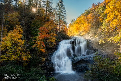 baldriverfalls cherokeenationalforest tennessee autumn autumncolor fall fallcolor falls landscape landscapephotography nature naturephotography outdoorphotography outdoors river sunbeams sunburst sunrise sunstar waterfall