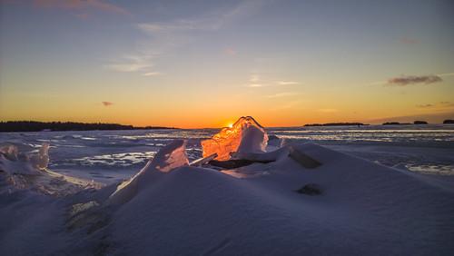 lumia1020 landscape seascape frozensea sea ice sunrise clouds sky finland espoo