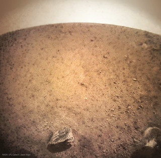 InSight first image – CLEANED | by Lights In The Dark