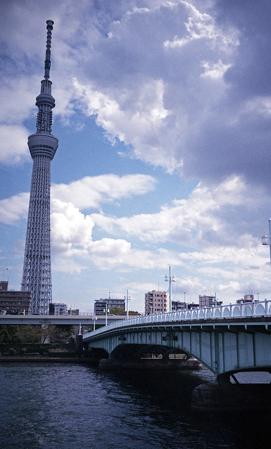 A spectacle with Tokyo Skytree 2018/10 No.3(taken by film camera).