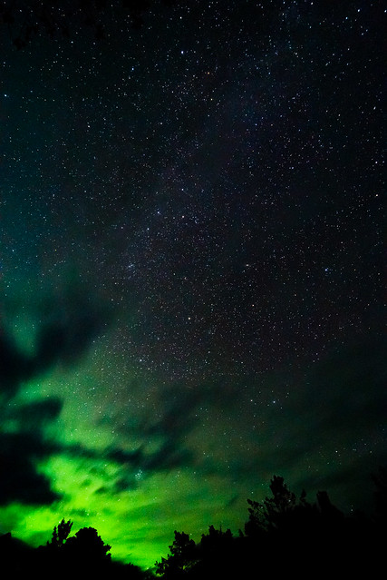 Northern Lights at Million Dollar Falls