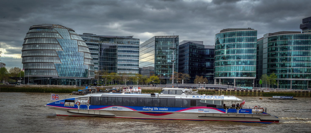 Thames River Bus, London, UK....
