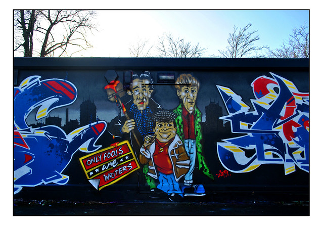 ONLY FOOLS & HORSES STREET ART by ANTE & SHINE QUEST