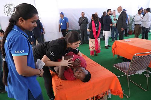 Chiropractic doctors giving treatment