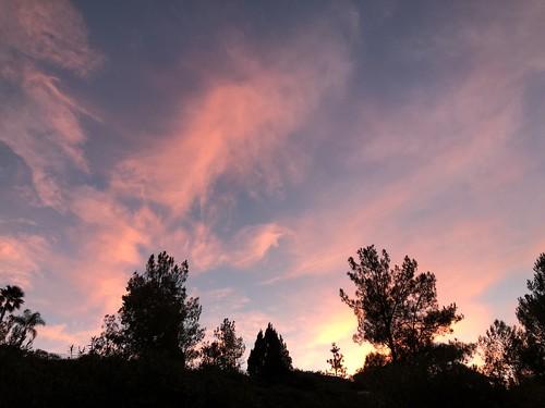 nofilter tuesday cloudporn nature backyard december santaclarita sunrise clouds