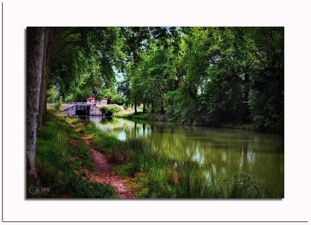 ECLUSE du CANAL du Midi