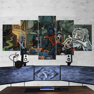 The Elder Scrolls 19 V Skyrim Artwork 5 Piece Canvas Wall Art Gaming Canvas | by gamewallart