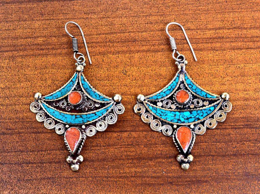 Gypsy earrings gypsy jewelry Bijoux ethnique Ethnic earrings Ethnic jewelry boho earrings