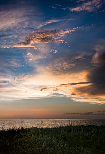 beach cloud cloudy dusk florida landscape ocean panorama plant seaoats sky sunset usa water weather shore ©edrosack nokomis us em5markiihighres edrosackcom