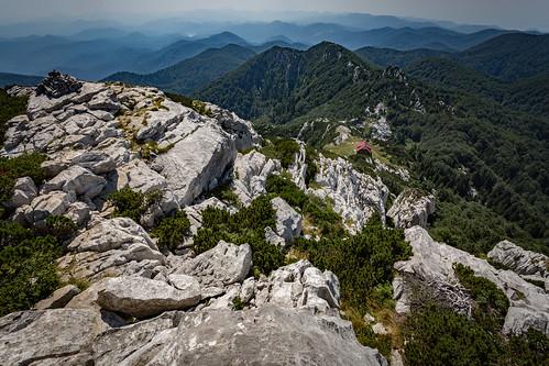 wood cliff mountain hütte croatia hut wald risnjak