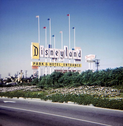 Disneyland Marquee, October 1970