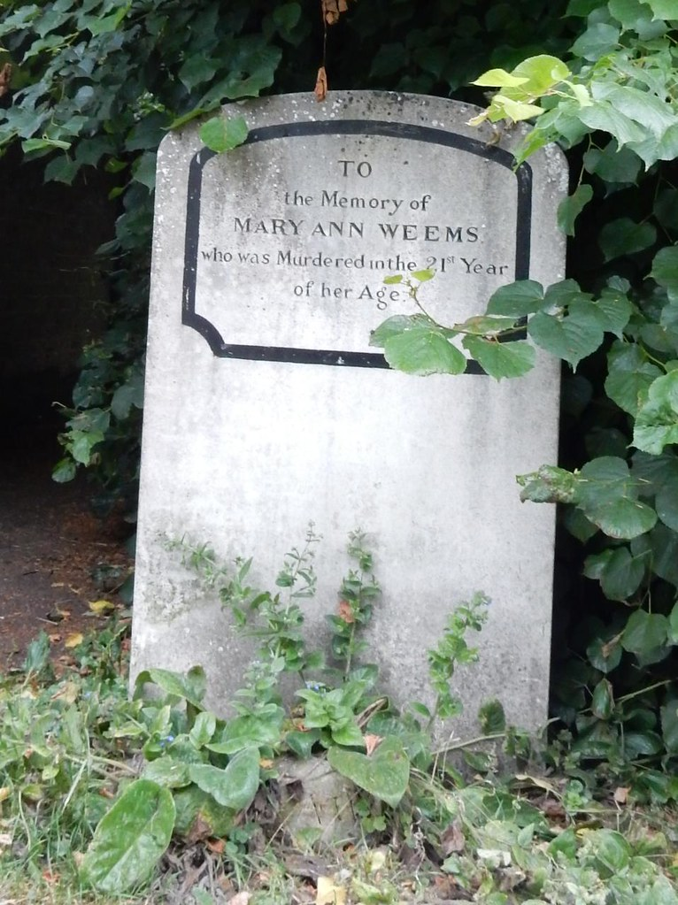 Mary AnneWeems grave (front) Huntingdon Circular (long)