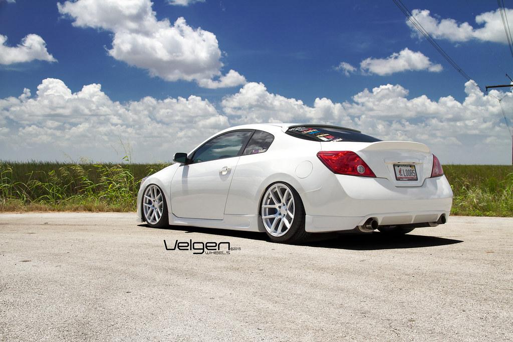 Bagged Nissan Altima Coupe On Velgen Wheels Vmb5 Matte Sil Flickr
