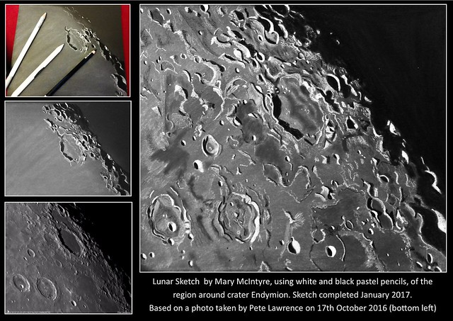 Sketch of Endymion Crater Region