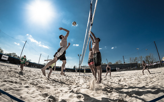 Fair Play beach volleyball: attack and double block