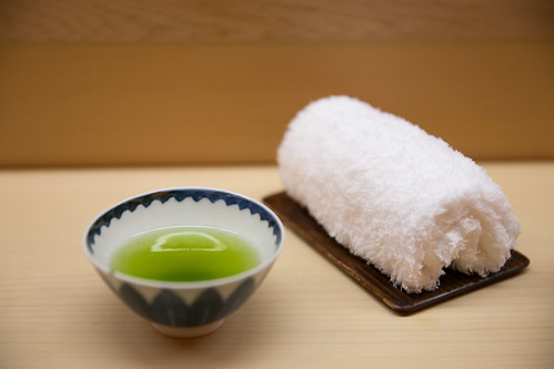 Green tea and a hot, moist Imabari towel | by City Foodsters