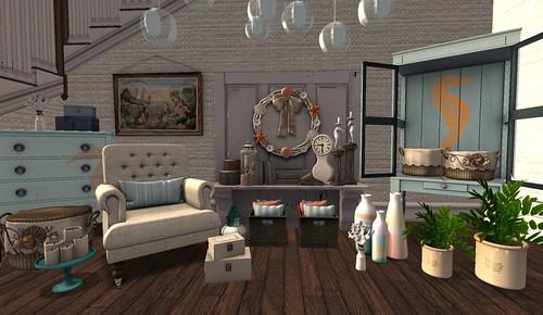 Beach House Entry Hall   by Hidden Gems in Second Life (Interior Designer)