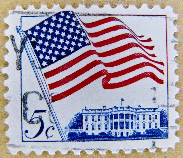 *peace* great stamp USA 5c (Washington D.C., The White House, Weißes Haus, Белый дом, Casa Blanca, ホワイトハウス, Maison-Blanche, Casa Branca, 白宮, Beyaz Saray; United States of America US flag stamp USA 5 c cent timbre États-Unis u.s. postage stamp selo Estados
