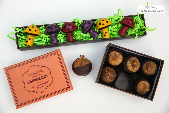 Magical Mushrooms and Chocolate dipped figs