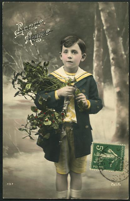 Archiv B016  Bonne Année Karte, front, 1914