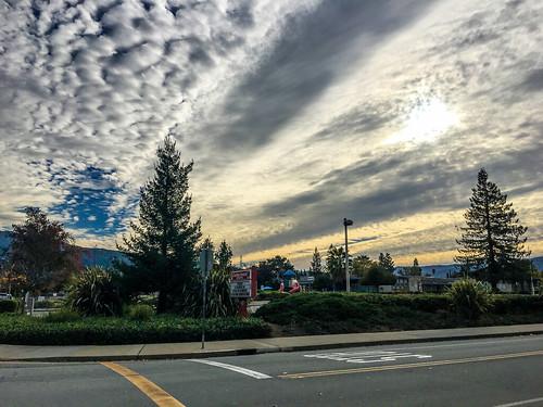 ca california sunset nature santacruzmountains afternoon mountains outdoor school sanjose trees clouds unitedstates us
