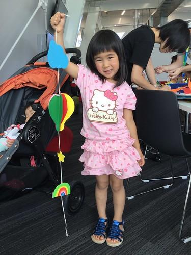 Agnes - hot air balloon mobile.