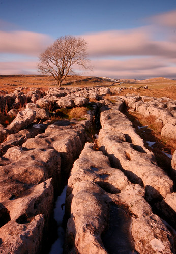 malham limestone pavement yorkshire dales national park england english uk united kingdom great britain british rocks tree lone lonely alone winter january snow long exposure clouds shadow light frost sky blue landscape view scenic scenery walking hiking travel trip canon 70d sigma natural nature white stone