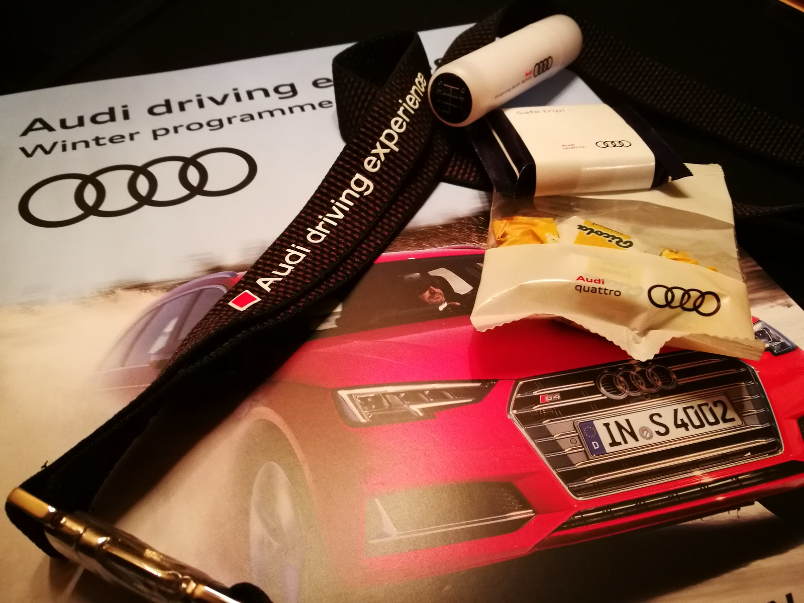 Audi Driving Experience goodies