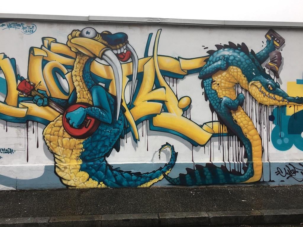 Street Art Lyon Peinture Murale Pascal Bandelier Flickr