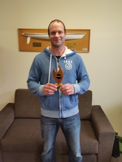 Bernard Sonk - winner of the B Fleet Sprint Series Trophy | by PLSC (Panmure Lagoon Sailing Club)