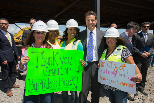 "Governor Cuomo Celebrates ""Topping Off"" of SolarCity GigaFactory 
