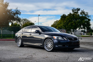 "Lexus GS 350  |  20"" AC Forged Wheels AC-313  Brush Face, Chrome lip  