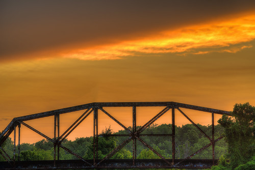 railroad trestle trees lines clouds louisiana glow patterns hdr shreveport sonya7r