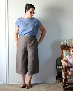 aug 11 style arc and butterick culottes | by wandering spirit designs