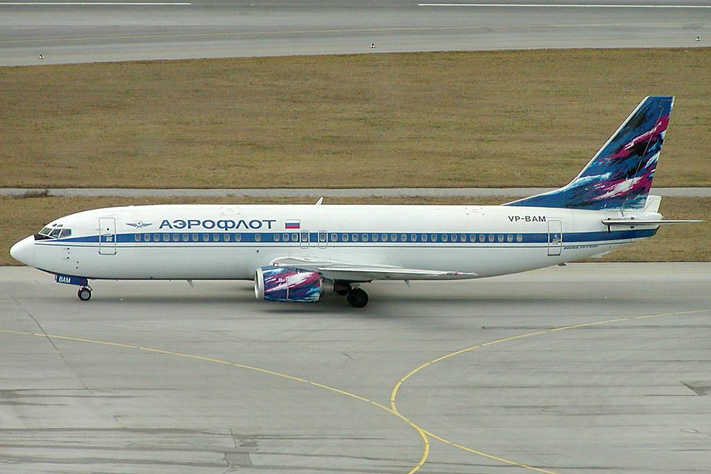 Aeroflot Russian International Airlines Boeing 737-4M0 VP-BAM (c/n 29205)