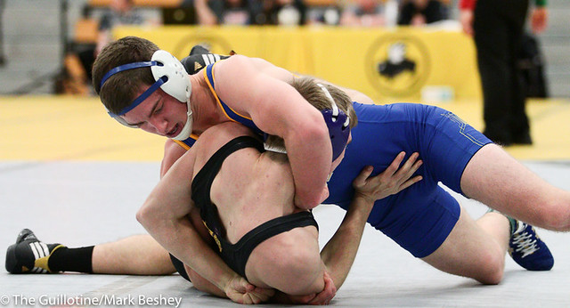 145 - Cody Schoen (St. Michael-Albertville) over Wade Kirkpatrick (Hermiston) Fall 1:40