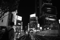 Shibuya roadworks b/w
