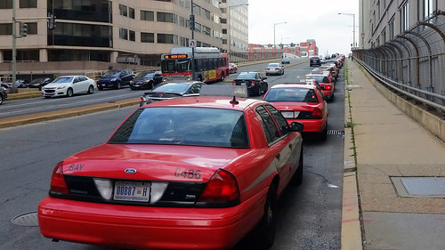 Taxis lined up behind Union Station | by BeyondDC