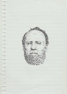 Zavier Ellis 'Mad Preacher Drawing # 2', 2014 Pencil on paper 21x14.8cm