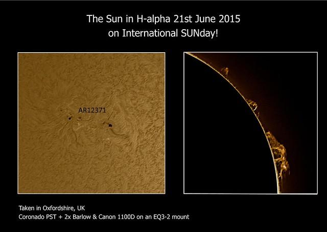 Sun in H-alpha 21/06/15