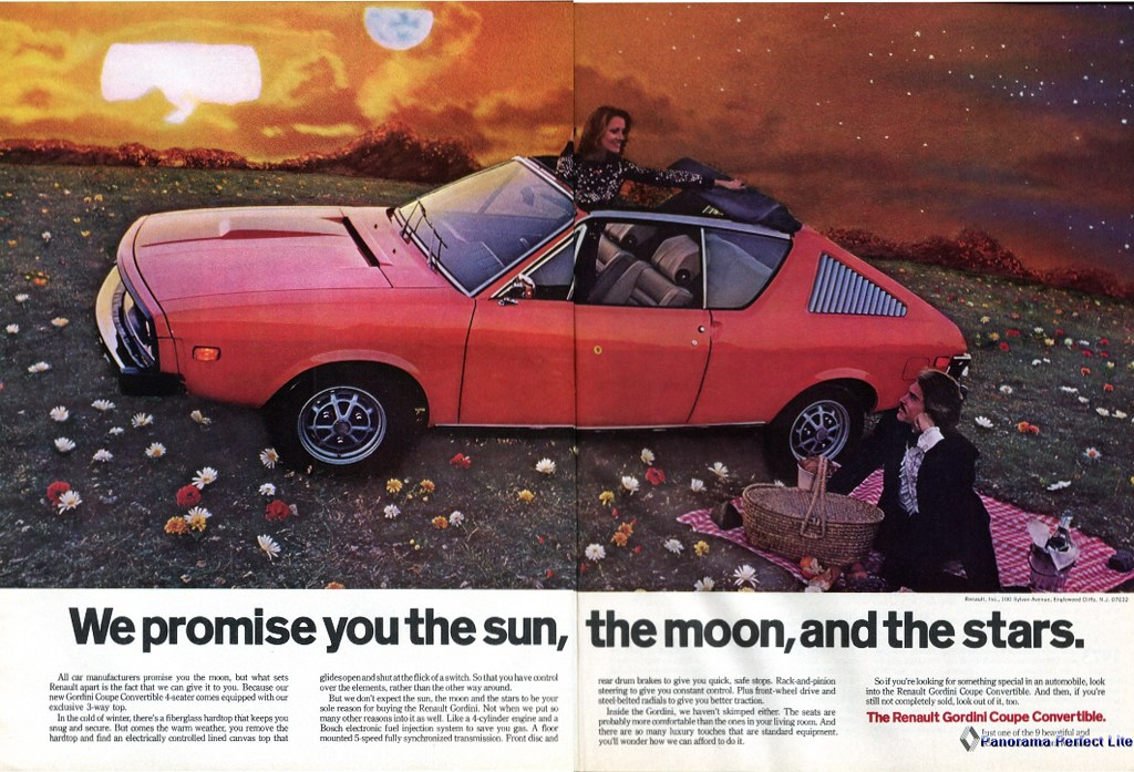 1974 Renault Gordini Coupe Convertible Advertising Stitche Flickr