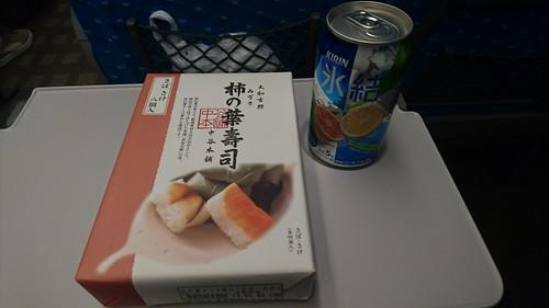 柿の葉寿司&氷結