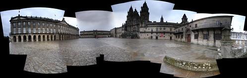 Los cuatro lados de la plaza del Obradoiro