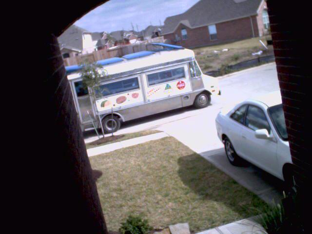 Front Door Webcam captured Taco Wagon Drive-By