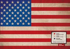 Estados Unidos: Blanco, a favor de la guerra en Irak. Rojo, en contra de la guerra en Irak. Estrellas, no sabe donde está Irak.