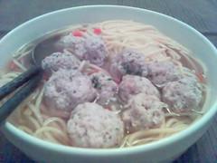 chicken balls noodle soup