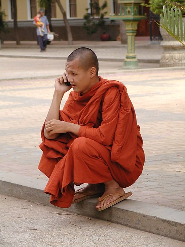 Monk on Cell Phone | by cambodia4kidsorg
