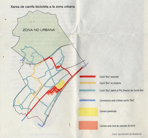 Mapa del carril bici